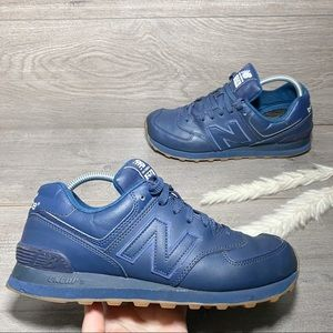 New Balance Leather 574 Shoes